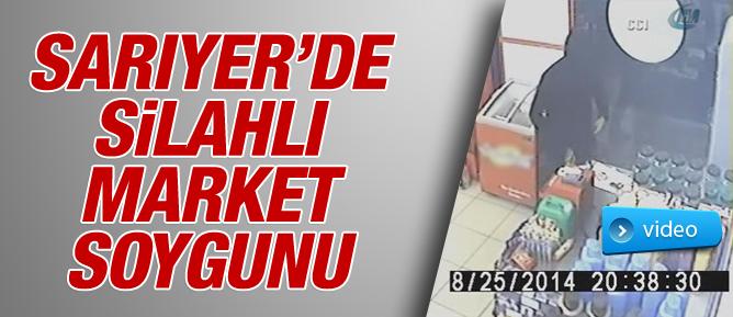 Sarıyerde silahlı market soygunu - VİDEO