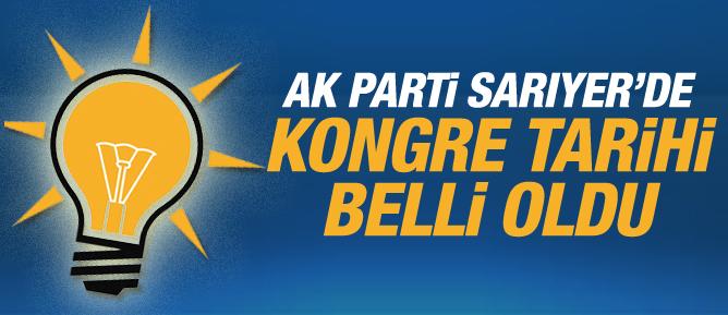AK Parti Sarıyerde kongre tarihi belli oldu
