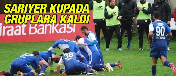 Sarıyer Türkiye Kupasında gruplara kaldı