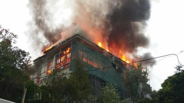 Sarıyer Yeniköy yangın, Yeniköy'de yangın